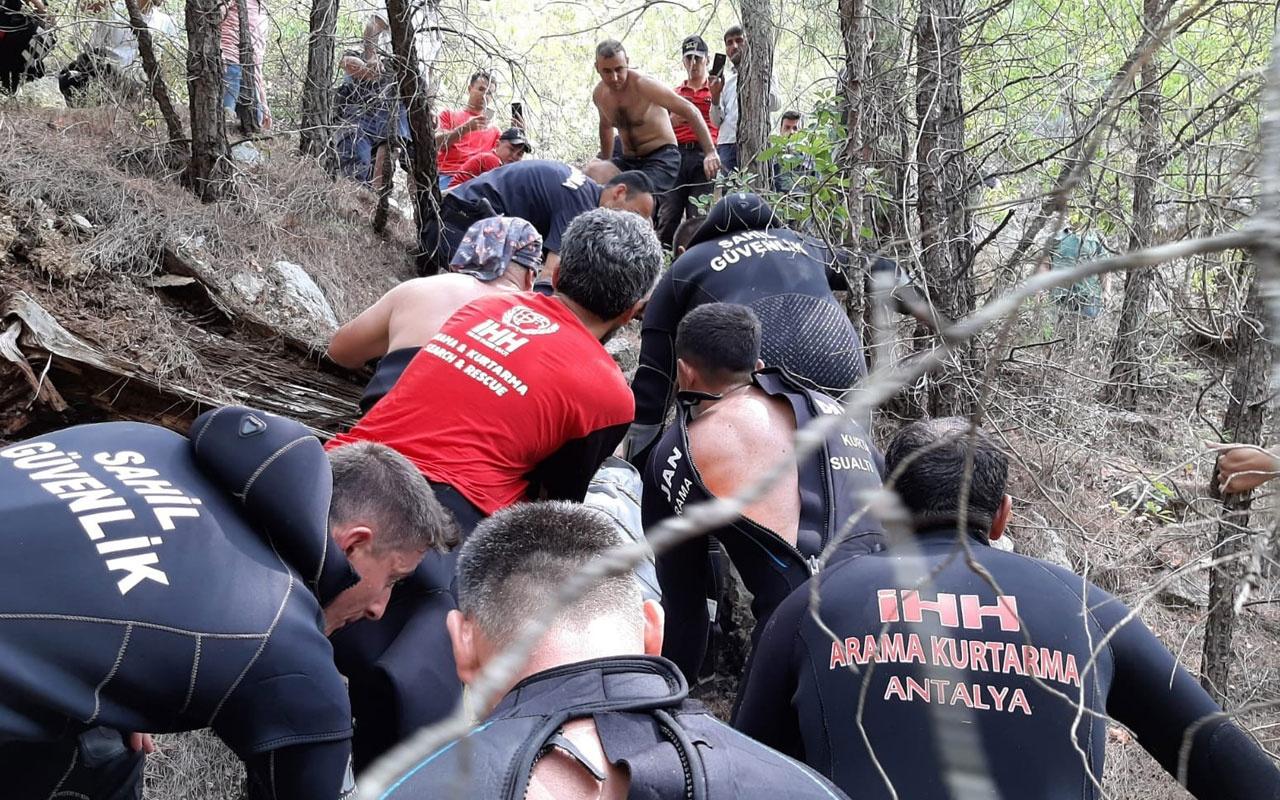 Alanya'da çaya düşen adamın cesedi 27 saat sonra bulundu