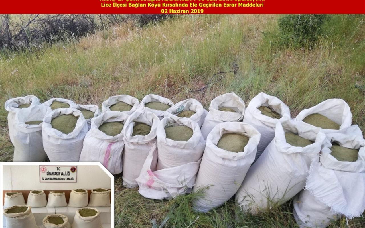 Diyarbakır'da terörün finans kaynağına büyük darbe! 15 milyon kök Hint keneviri 9 ton esrar