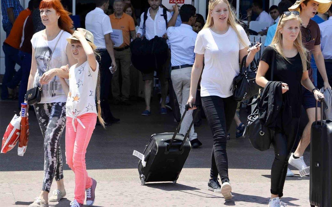 Antalya'ya 193 ülkeden 8 milyon turist geldi