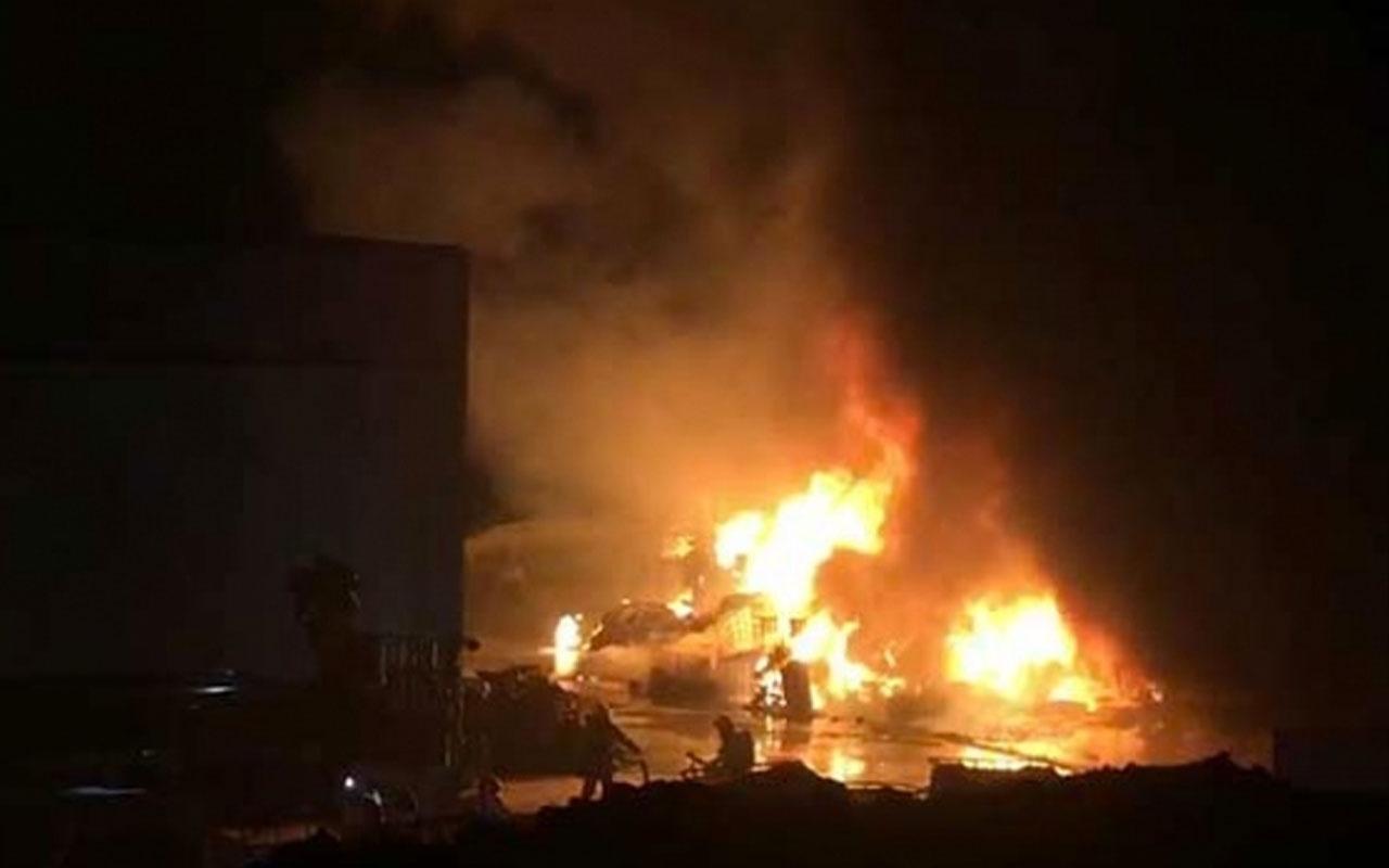 Denizli OSB'de bulunan fabrikada korkutan yangın! Patlamalar yaşanıyor!