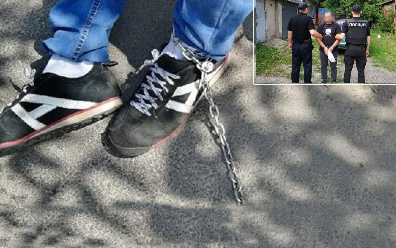 Ukrayna'da taksici parası olmayan müşteriyi ayağından zincirleyip bodruma hapsetti