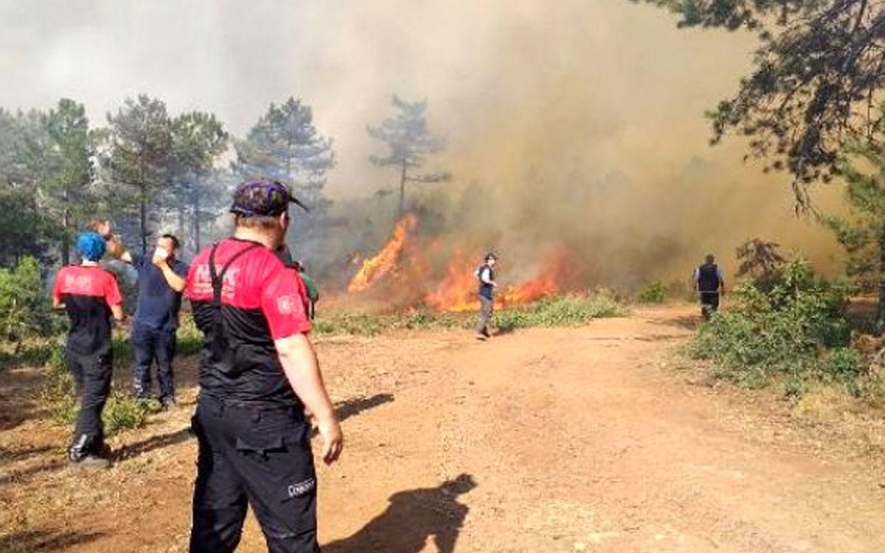 Saatler sonra kontrol altına alınan orman yangınında sabotaj şüphesi