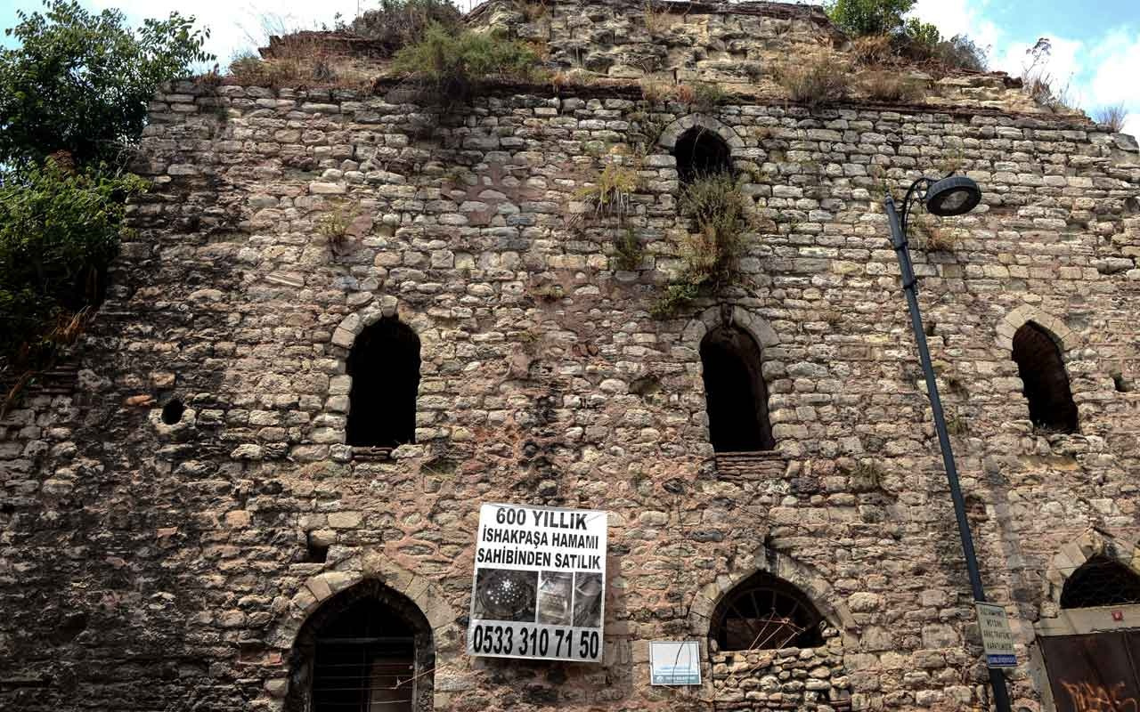 3,5 milyon dolara sahibinden satılık tarihi İshak Paşa Hamamı
