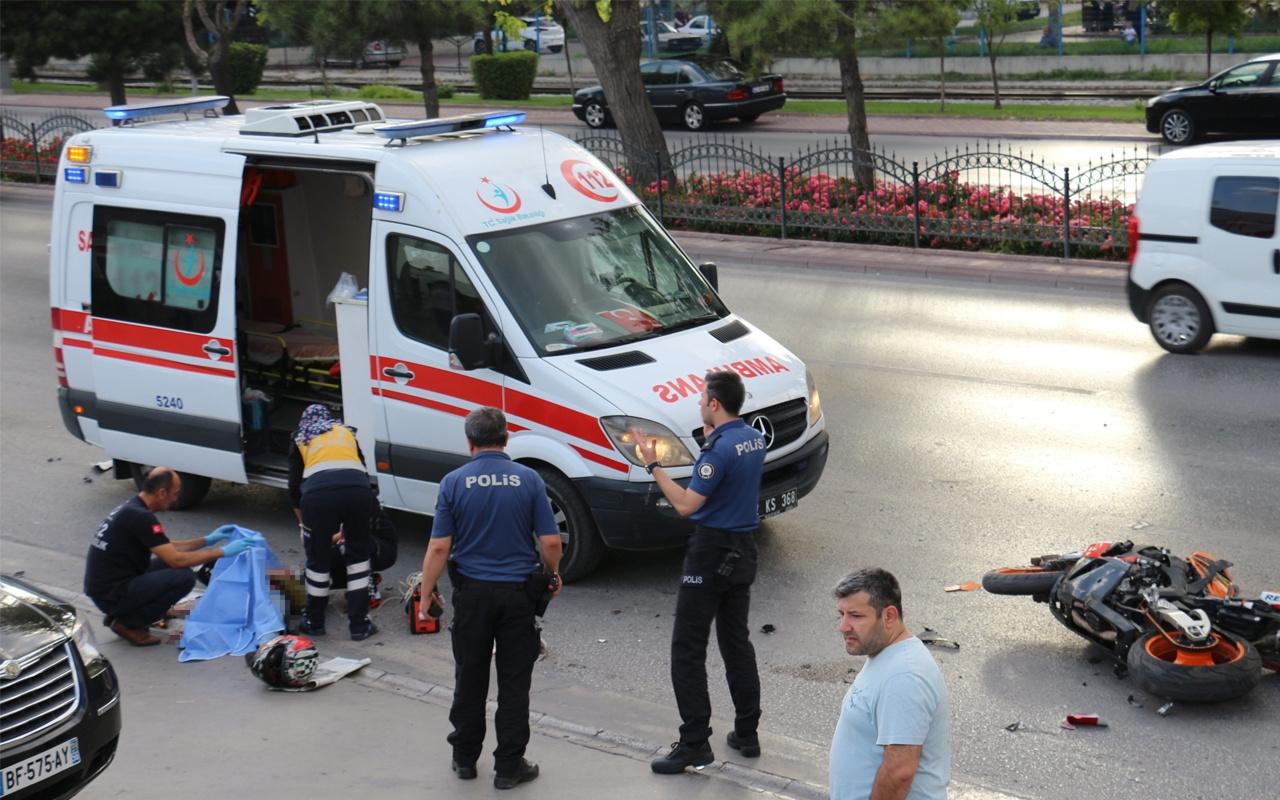 Konya'daki korkutan kazanın görüntüleri
