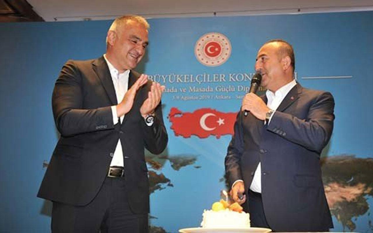 Bakan Ersoy'dan Çavuşoğlu'na doğum günü sürprizi
