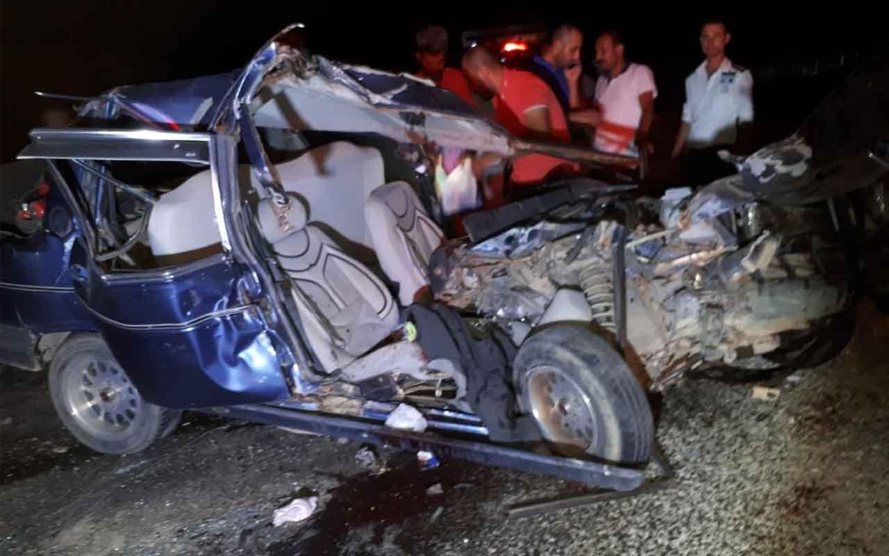 Otomobil ile tır kafa kafa çarpıştı: 1 yaralı