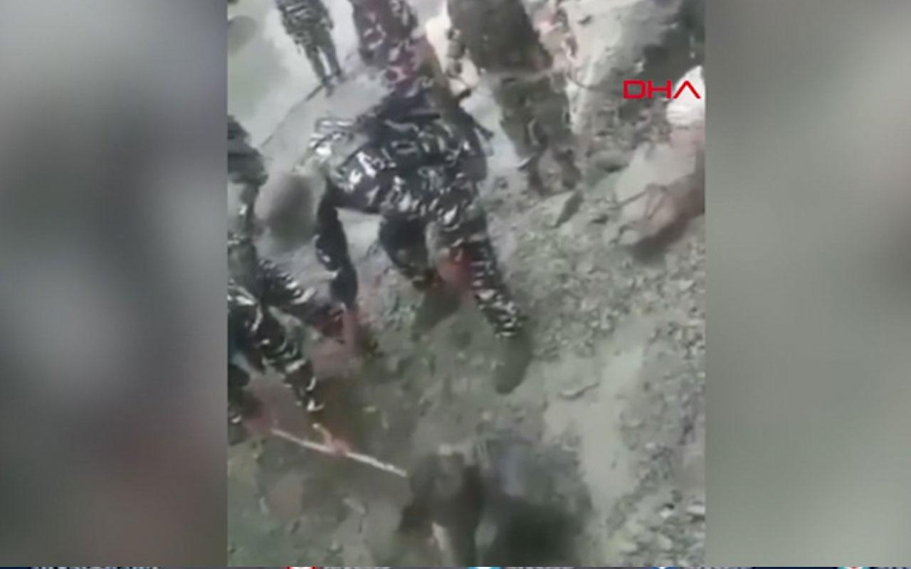 Heyelanda toprak altında kalan adam, köpek sayesinde kurtuldu