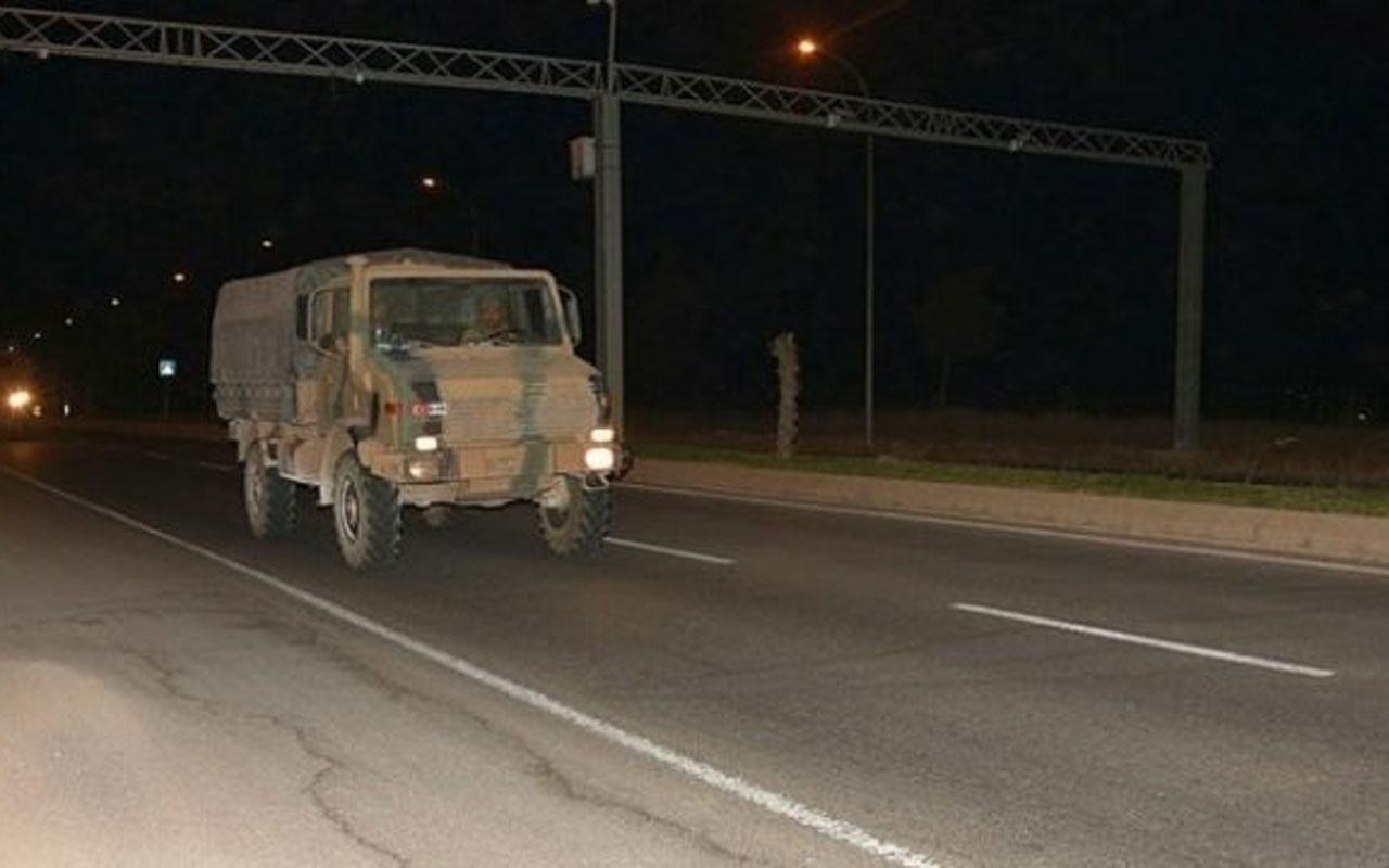 Şanlıurfa'da Suriye sınırına askeri hareketlilik