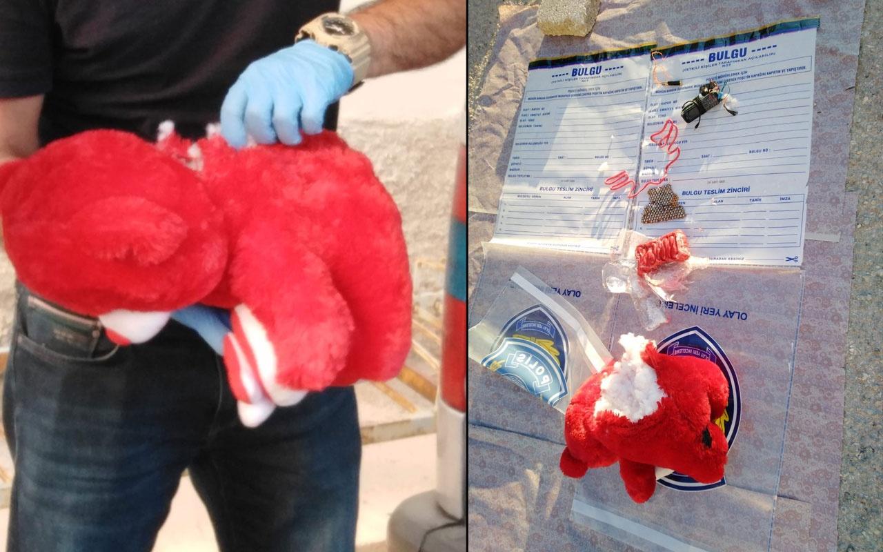 Konya'da oyuncak ayının içinden 500 gram patlayıcı çıktı polis şaştı kaldı