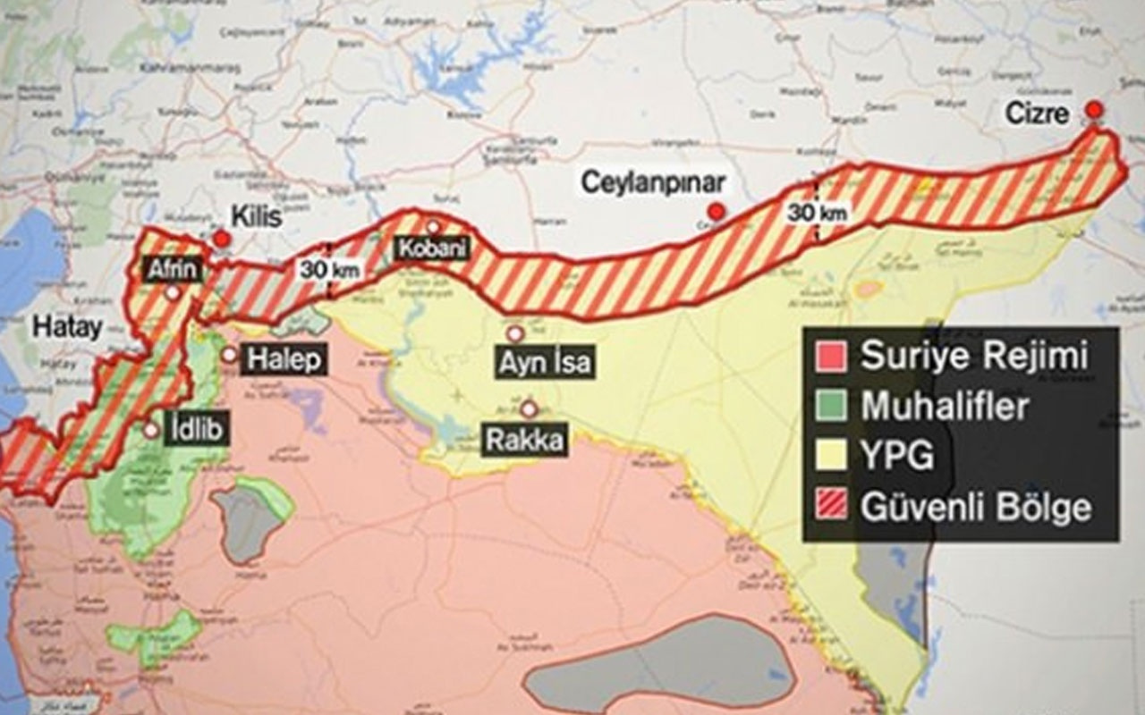 Türkiye'nin Suriye'nin kuzeyinde '32 kilometre' ısrarının sebebi PYD tehdidi tamamen kalkıyor