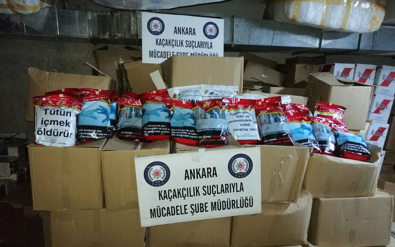 Başkent Ankara'da 870 kilo kıyılmış tütün ele geçirildi
