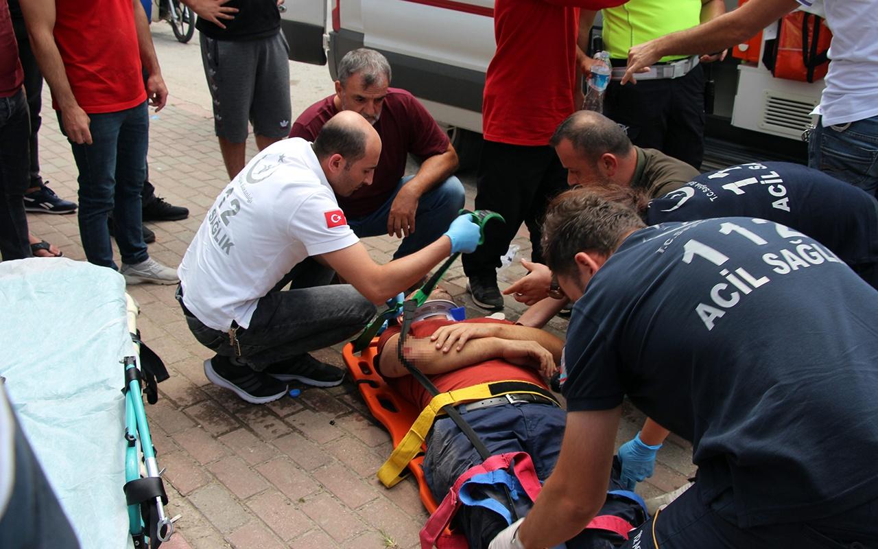 Sakarya'da trafik kazası! Motosiklet ile otomobil çarpıştı