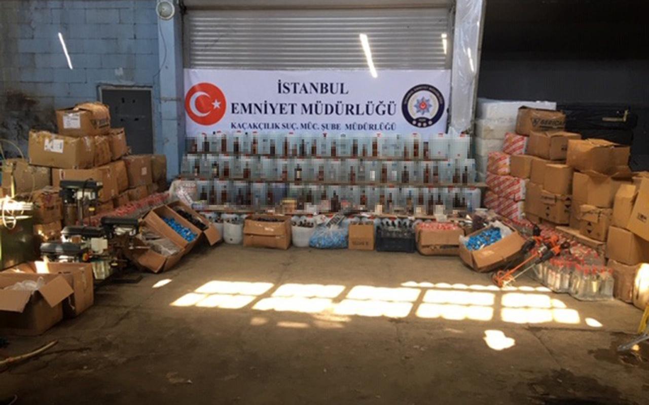 İstanbul'da sahte içki operasyonu! İnsan sağlığını hiç'e sayıyorlar