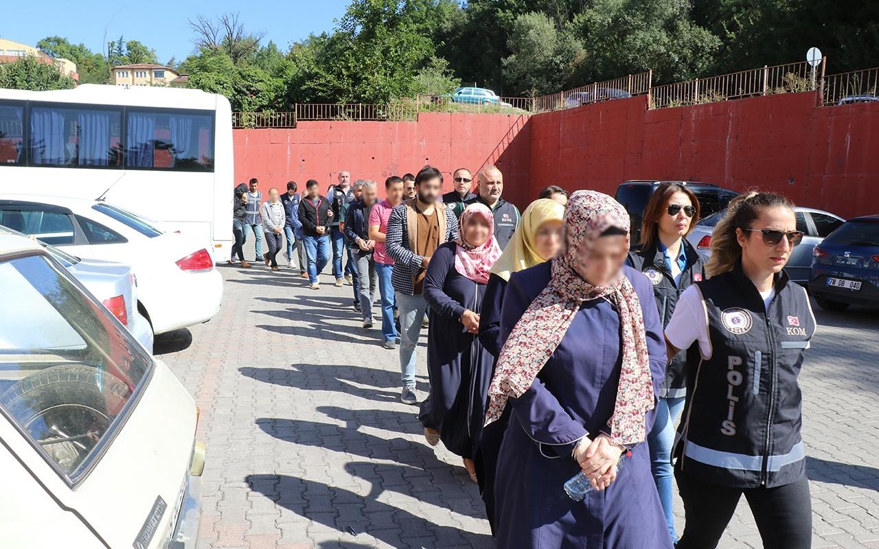 Karabük'te FETÖ operasyonu! 18 kişi adliyeye sevk edildi