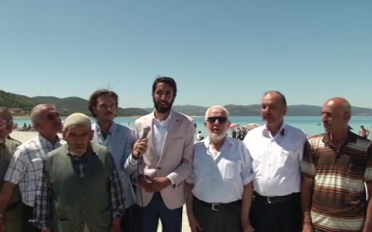 Saadet Partililer'in Salda'da depreme yakalanma anı tekbir getirdiler