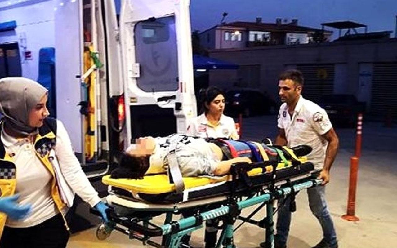 Kazadan kurtuldu, babası hastanelik etti