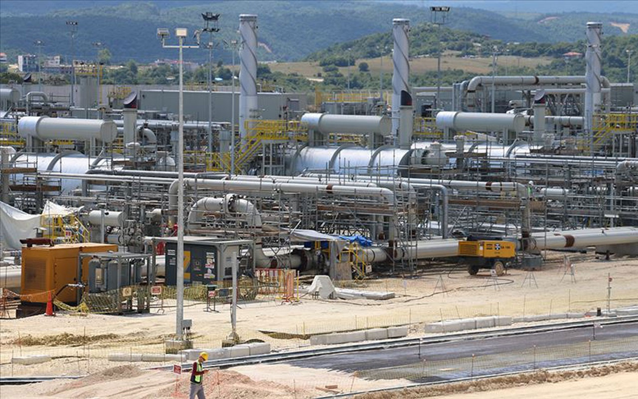 TürkAkım doğal gaz boru hattının Kıyıköy'de yer alan alım terminali inşaatının yüzde 95'i bitti