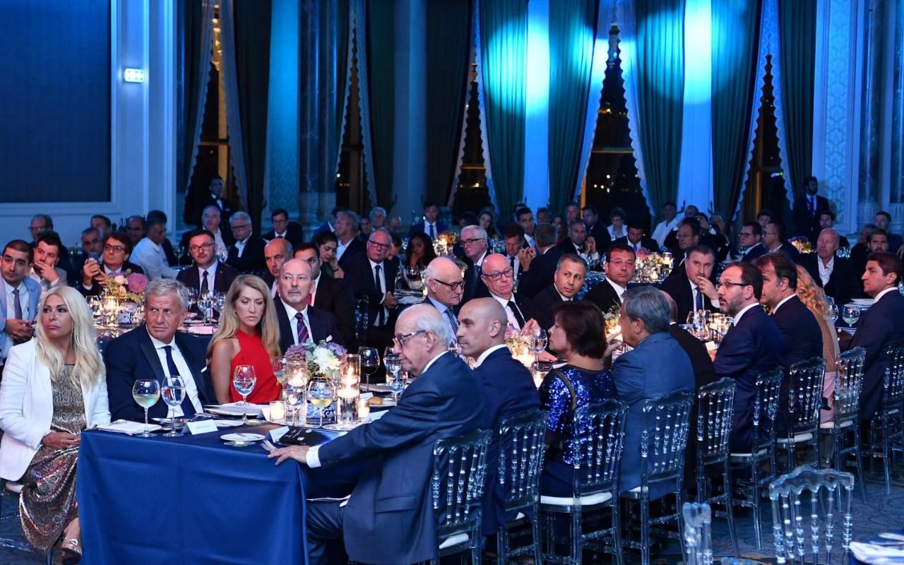 UEFA Süper Kupa'nın gala yemeği yapıldı