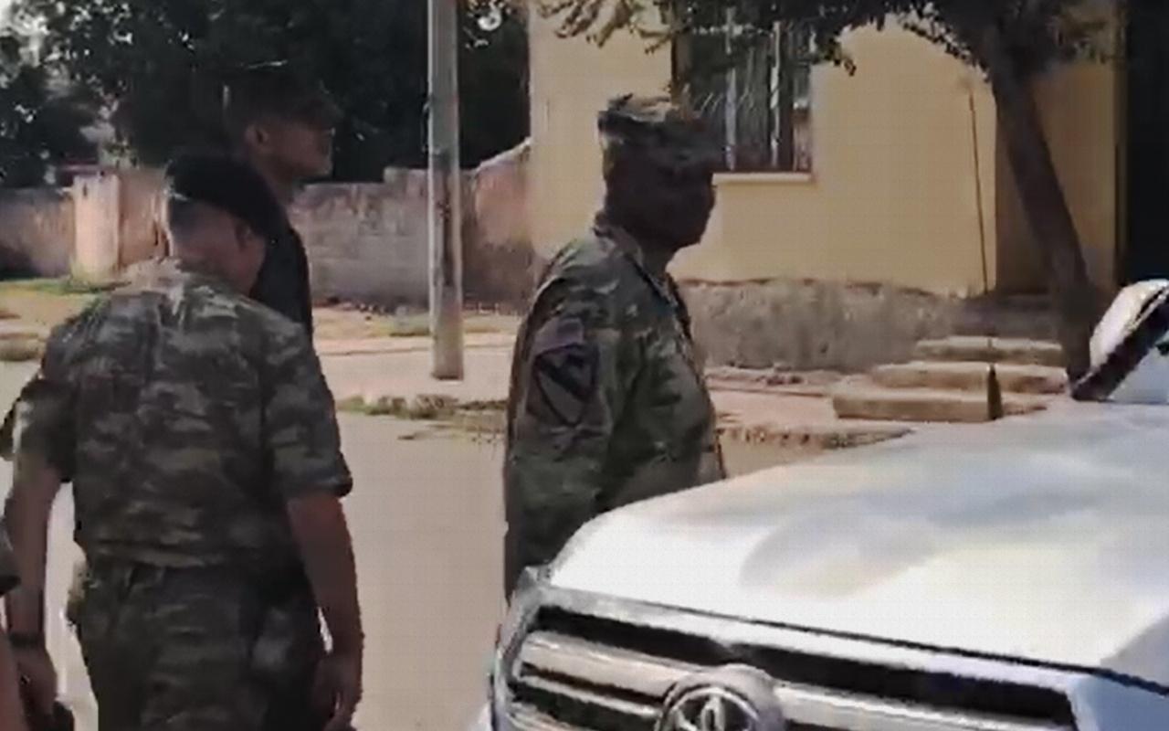 ABD ve Türk askerleri Şanlıurfa Akçakale sınırında