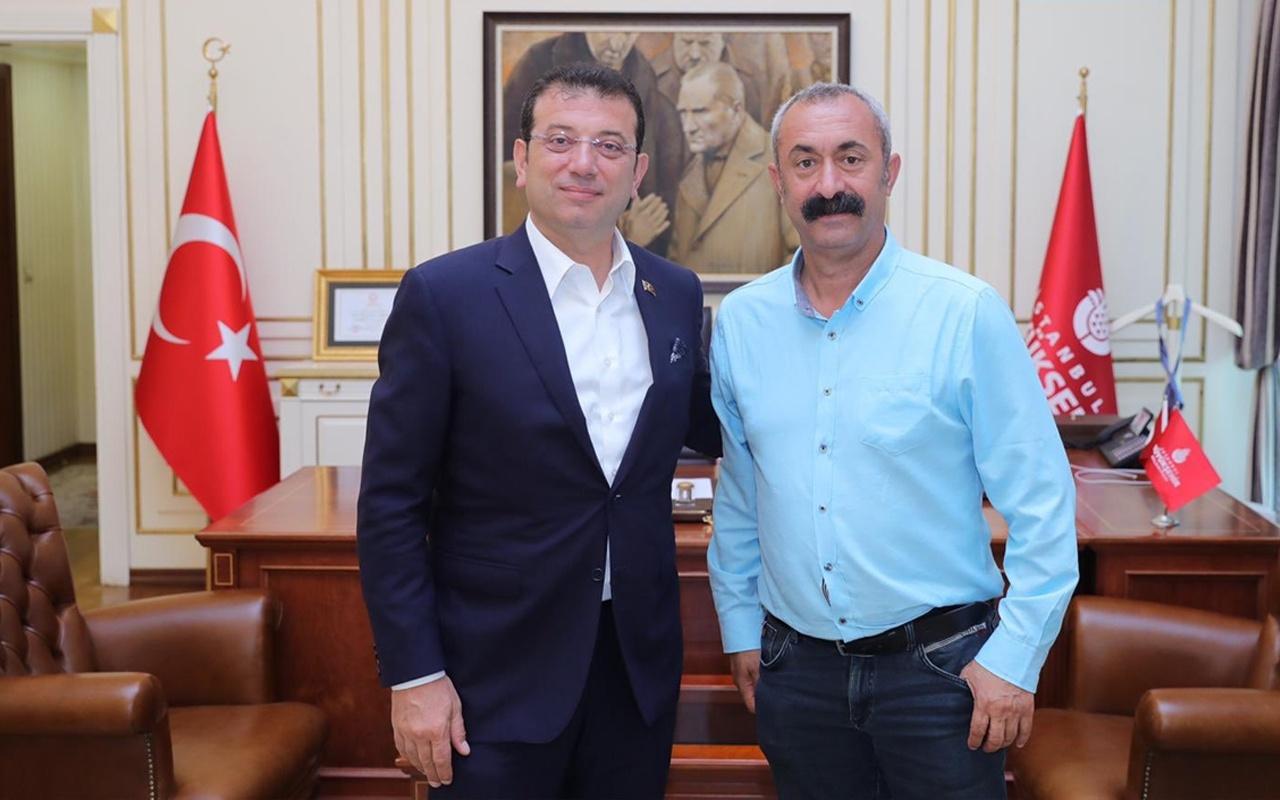 Komünist Başkan Fatih Maçoğlu, Ekrem İmamoğlu'nu ziyaret etti