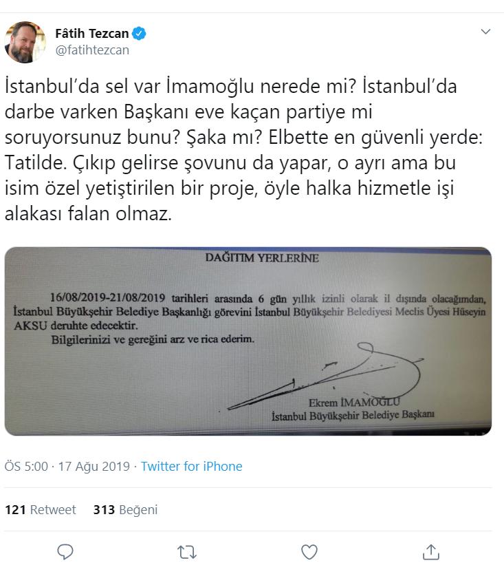 İstanbul'u sel aldı! İmamoğlu nerede etiketi TT oldu - Sayfa 10