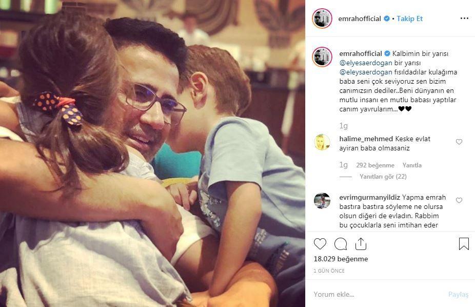 Şarkıcı Emrah çocuklarıyla fotoğraf paylaştı tepkiler ise gecikmedi