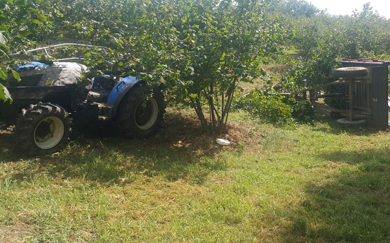 Kandıra'da fındık işçilerini taşıyan traktör devrildi: 1 ölü, 13 yaralı