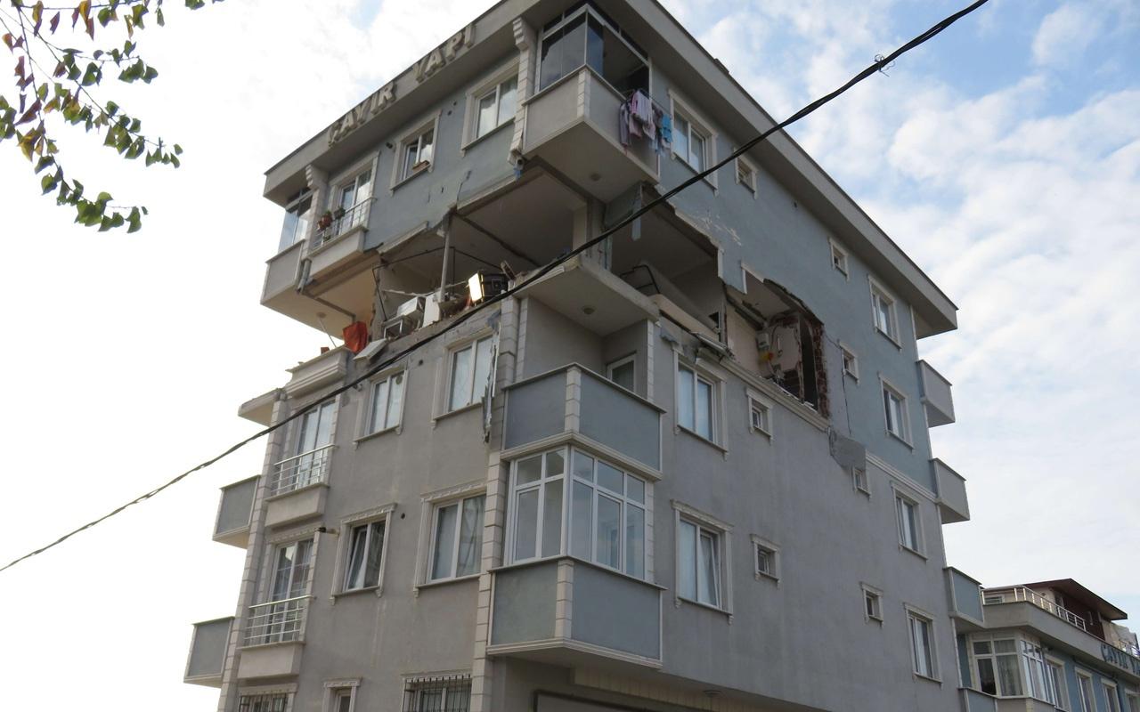 Sancaktepe'de binada şiddetli patlama