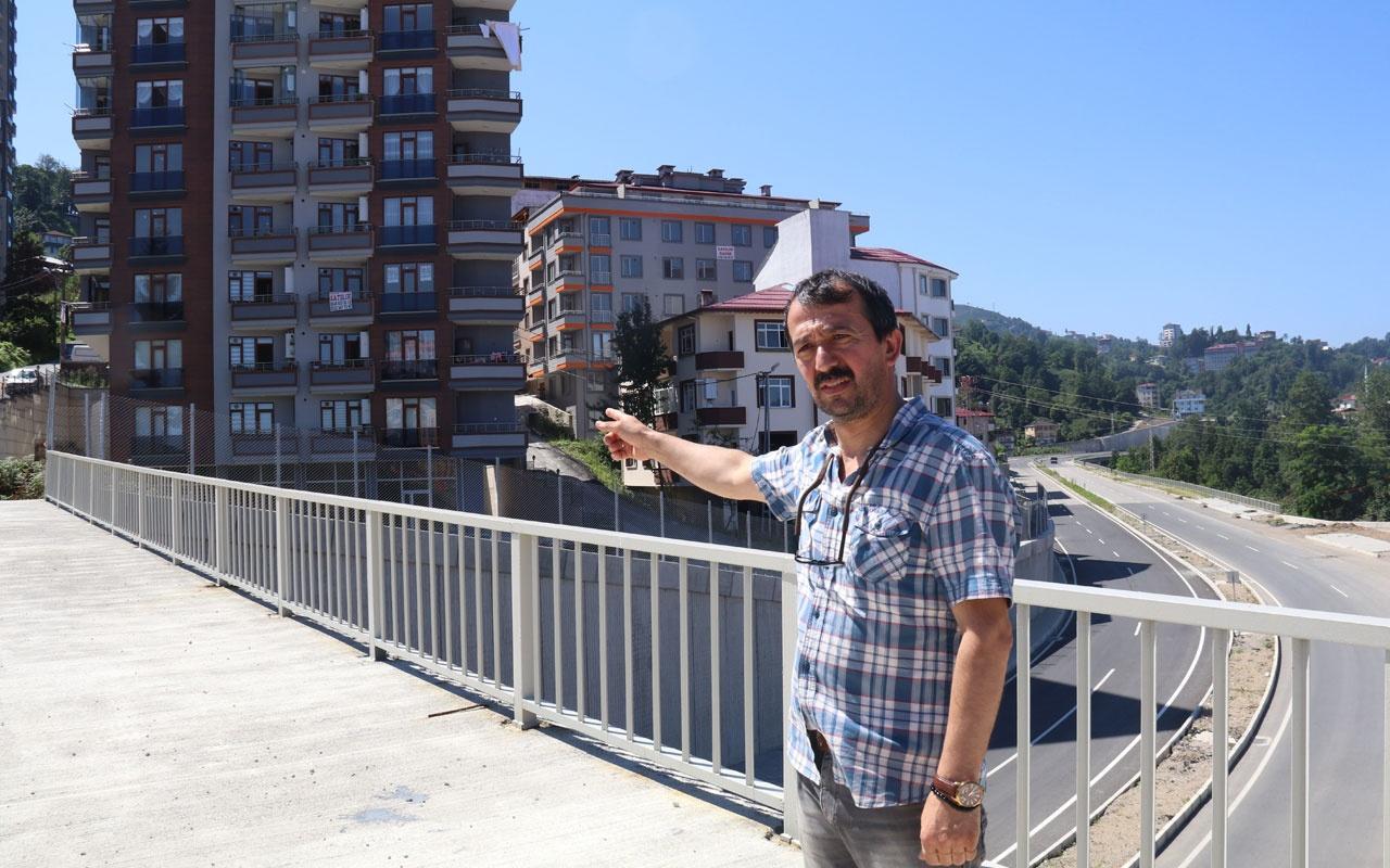 Rize'de mahalleyi 'Çin Seddi' gibi duvarla ayırdılar 50 metre ötedeki eve gitmek için 1 km yürüyorlar