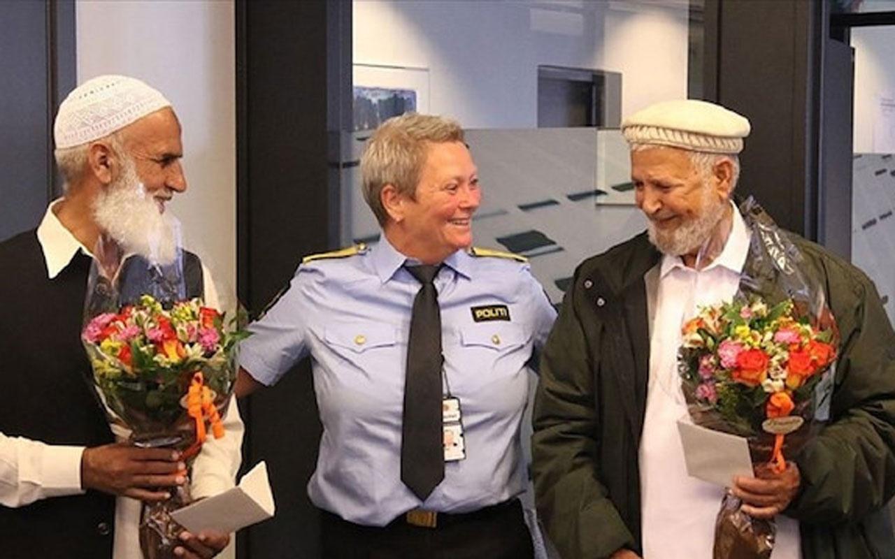 Norveç polisi cami saldırganına engel olan cemaati tebrik etti