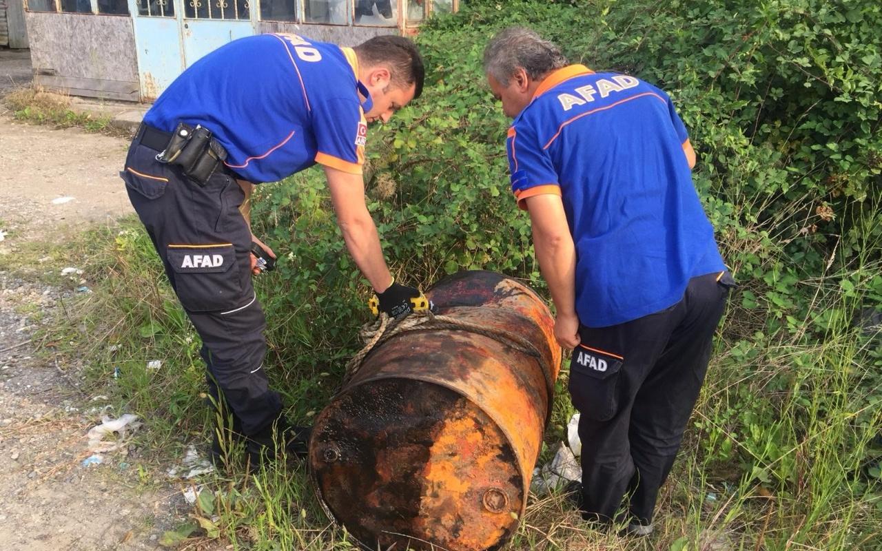 Zonguldak'ta Alaplı'da şüpheli varil paniği