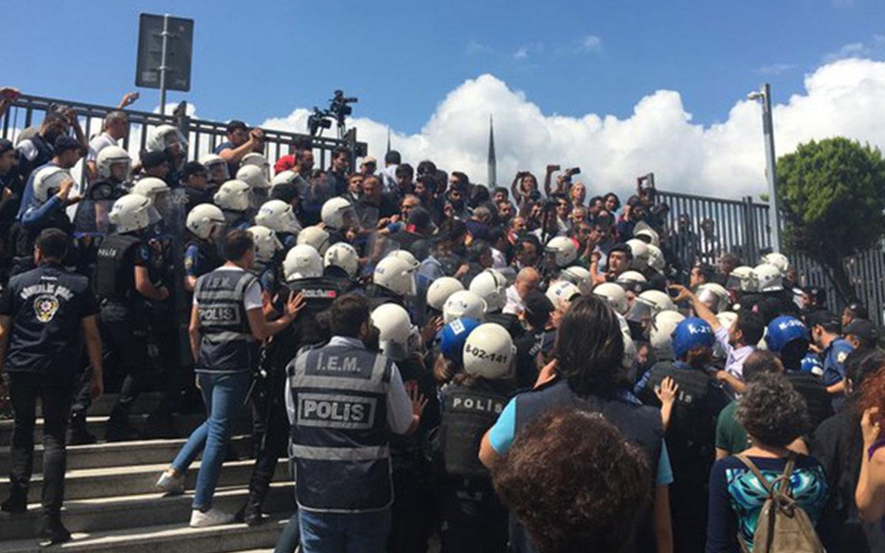 Çağlayan Adliyesi önünde avukatların kayyım protestosu ortalık karıştı