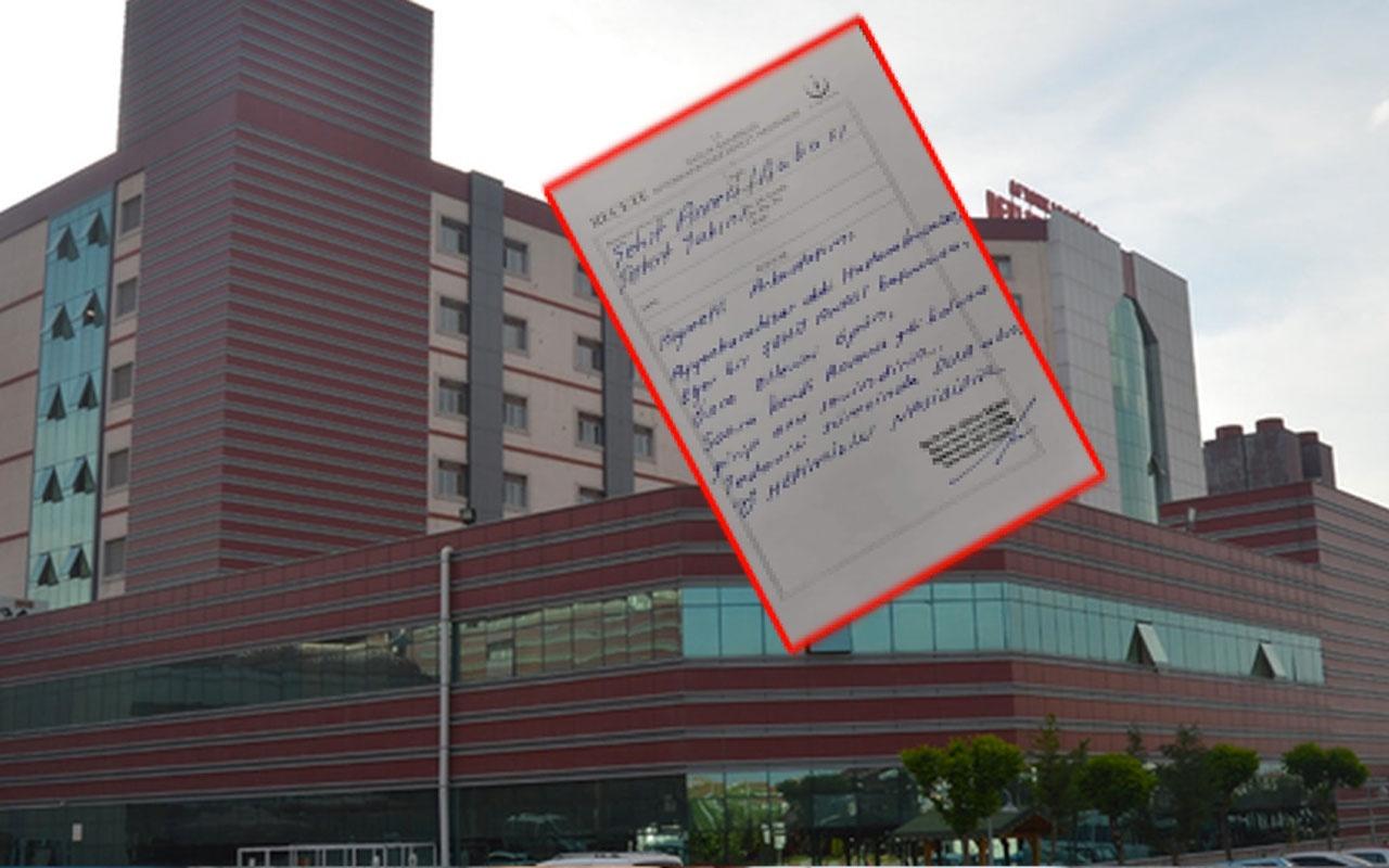 Opr. Dr. Gökhan Saçkan'ın reçeteye yazdığı talimat herkesi duygulandırdı