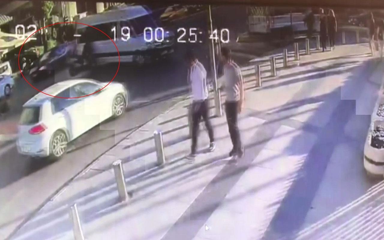 İstanbul'da feci kaza kamerada