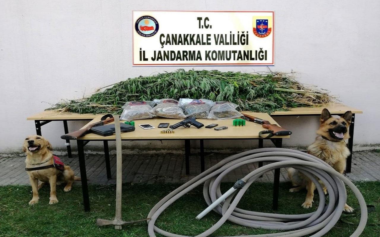 Çanakkale'de jandarma drone ile uyuşturucu operasyonu düzenledi