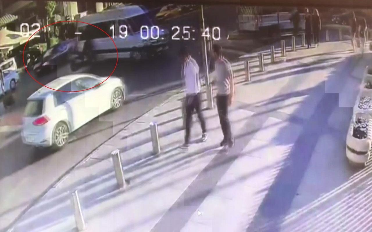 Şişli'de korkunç kaza! Seyir halindeki minibüse başını vurdu