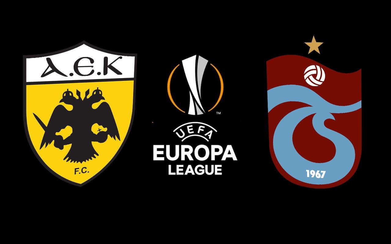 AEK Trabzonspor maçı saat kaçta hangi kanalda? UEFA Avrupa Ligi play-off maçı