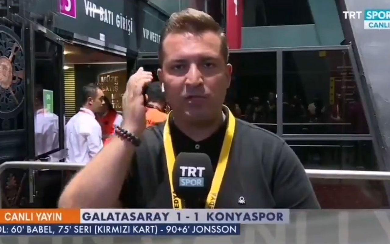 TRT muhabiri Galatasaray kazanamayınca 'Ne yazık ki' dedi Konyaspor taraftarı çıldırdı