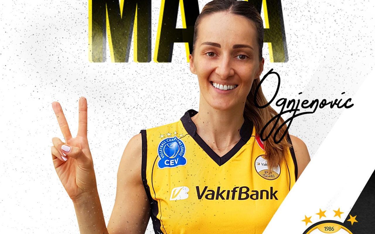 Vakıfbank Dinamo Moskavo'da forma giyen Maja Ognjenovic'i transfer etti