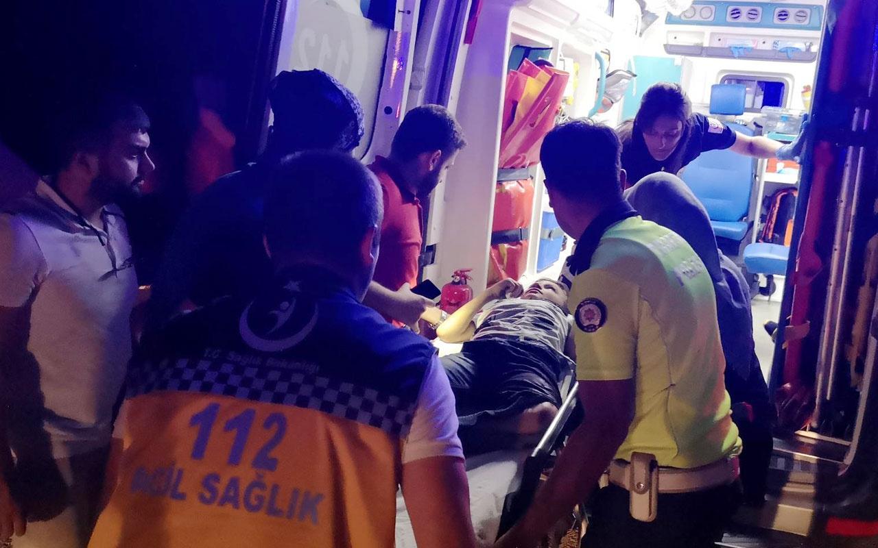 Kazada yaralananların çocukları olduğunu görünce sinir krizi geçirdi