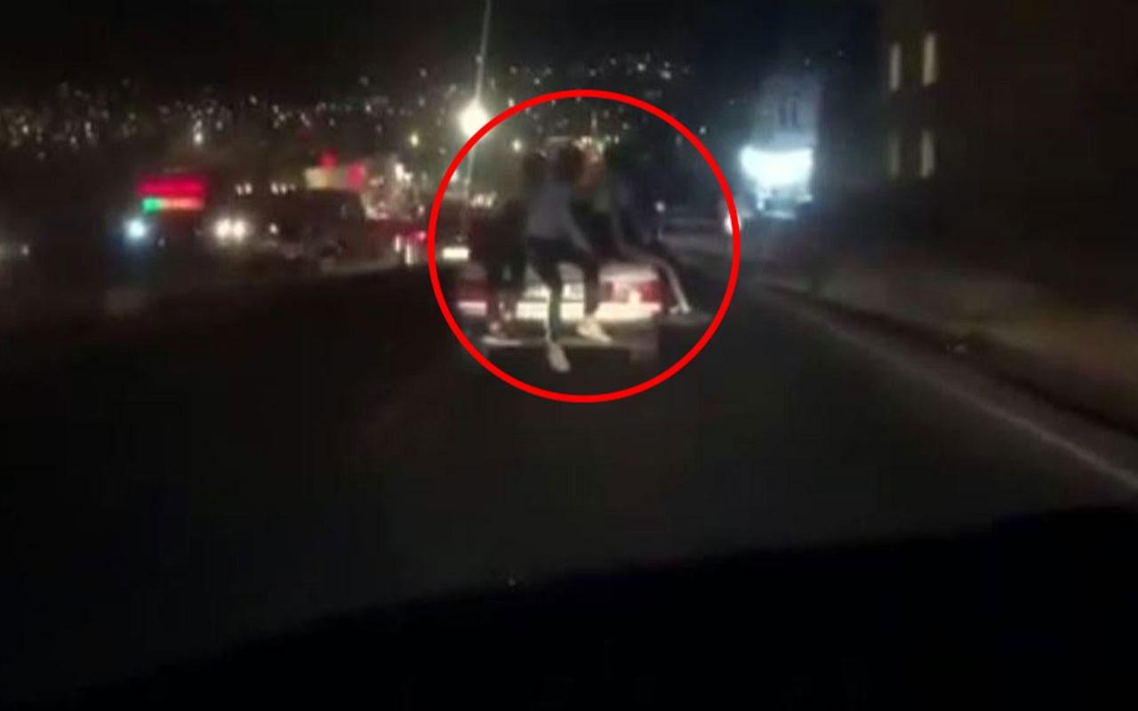 Şanlıurfa'da otomobil bagajında korkutan yolculuk