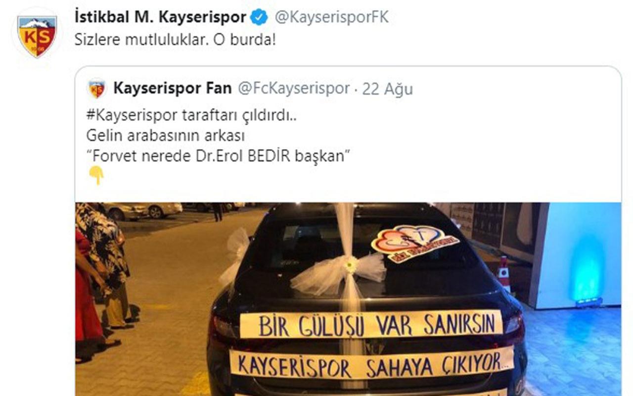 Kayserispor transfer bekleyen taraftarlarını sevindirdi: O burada!