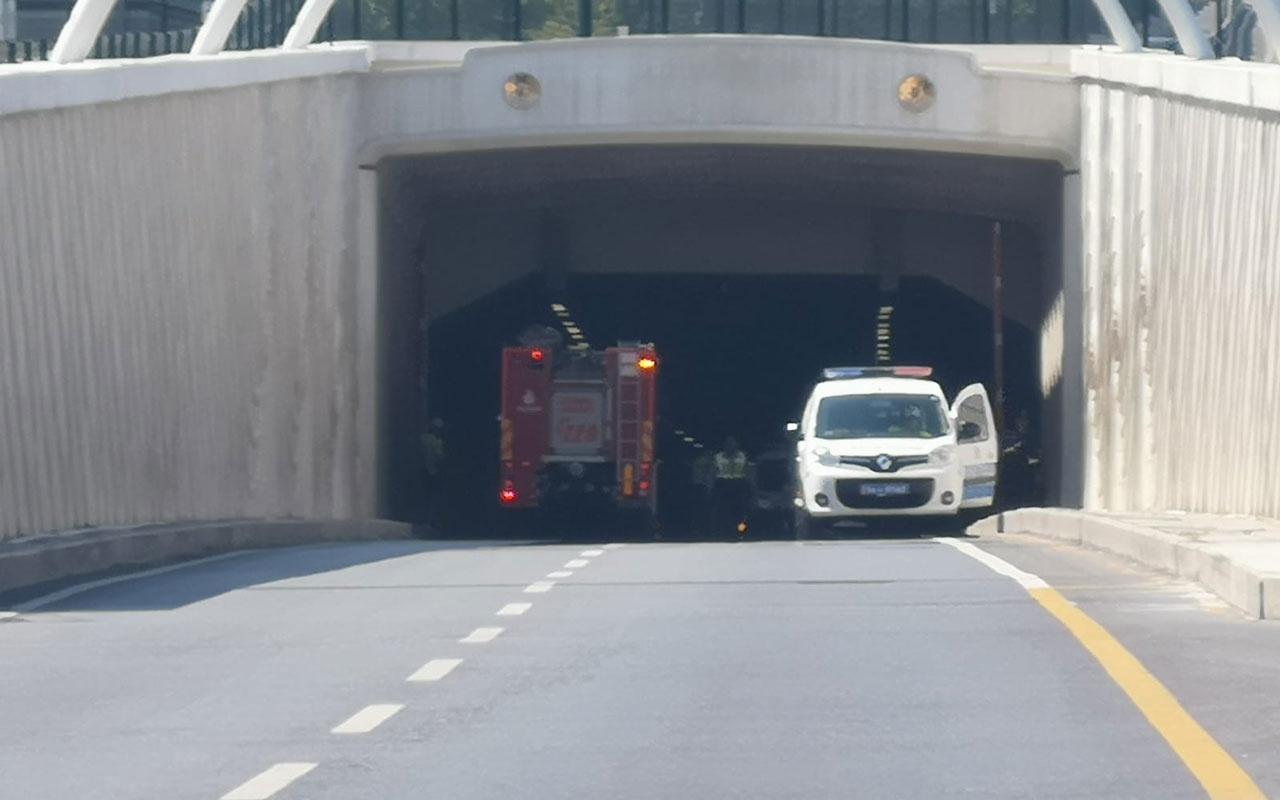 Avrasya Tüneli'nde kaza! Trafiğe kapatıldı