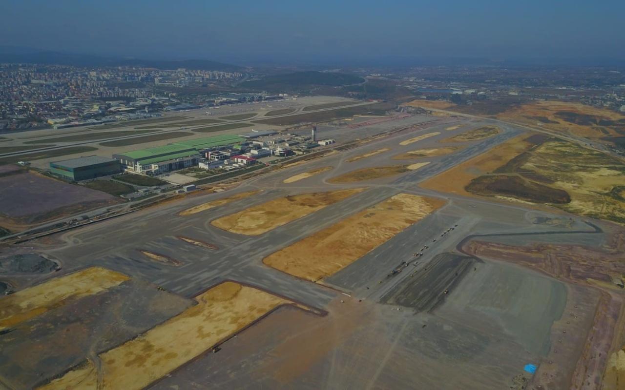 İstanbul Sabiha Gökçen Havalimanı'nda ikinci pist çalışması