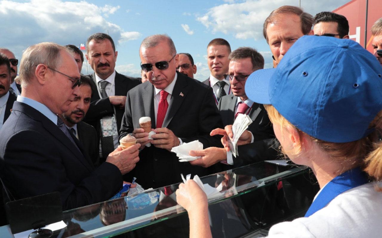 Putin fuarda Erdoğan'a dondurma ısmarladı