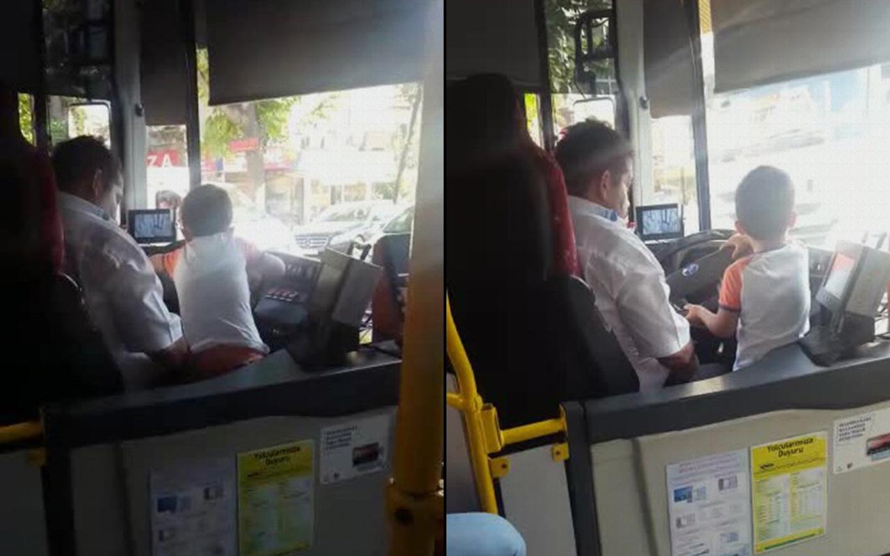 İstanbul'da çocuğa otobüs kullandıran şoför yakalandı