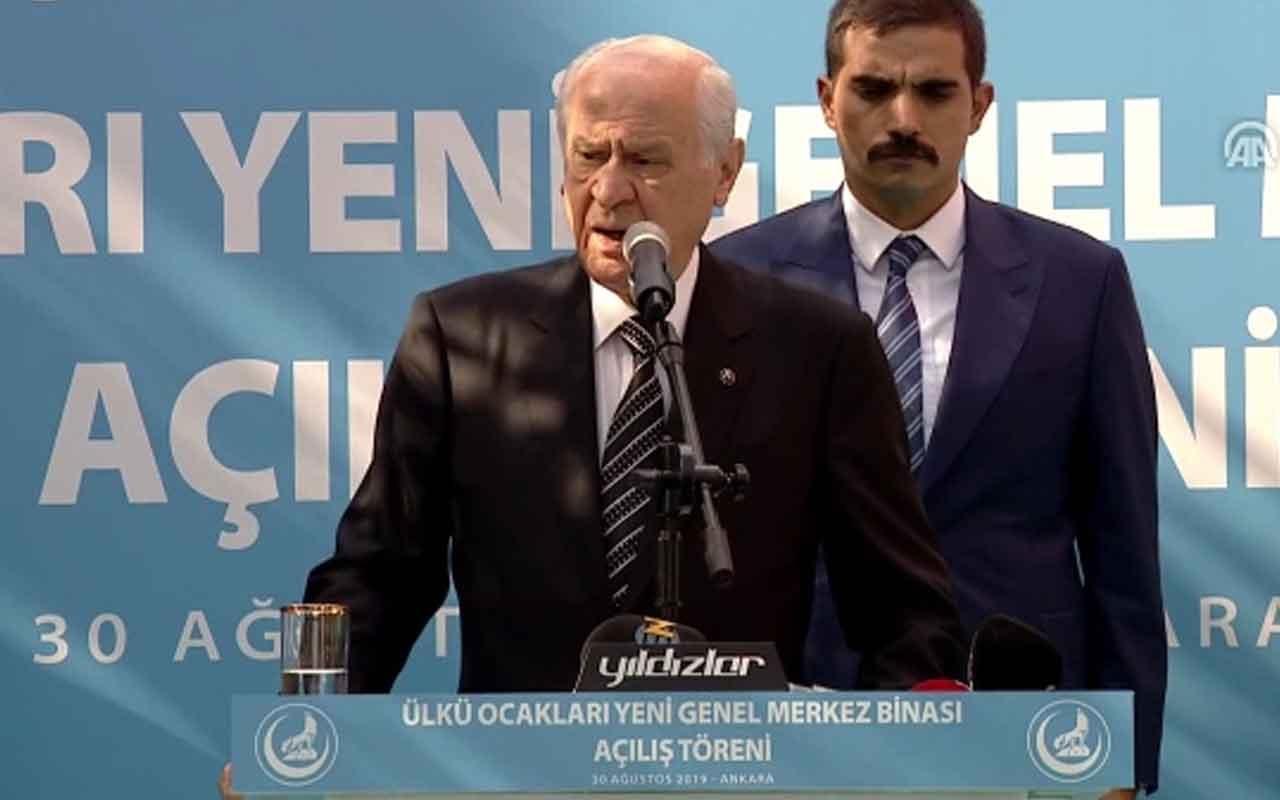 """MHP lideri Devlet Bahçeli: """"Ülkü ocaklarından haydut çıkmaz, hain çıkmaz"""""""