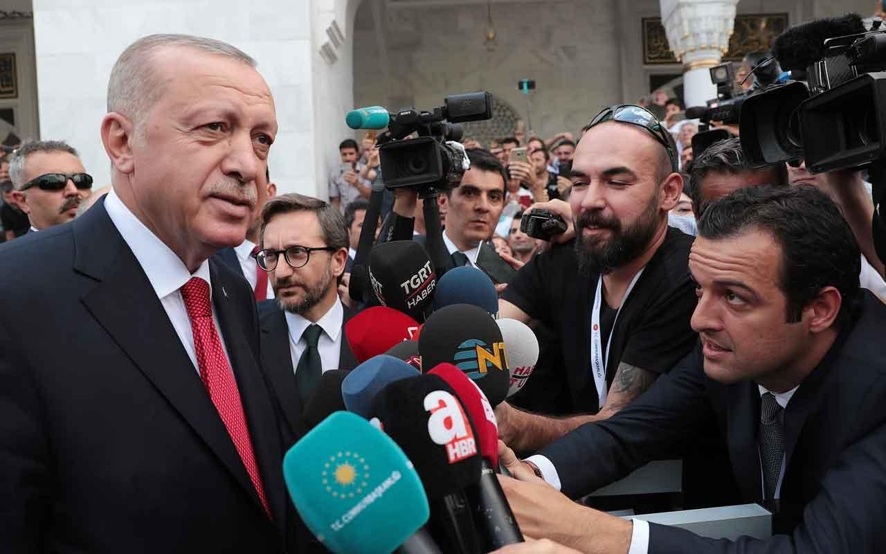 """Erdoğan'dan Davutoğlu'na yanıt """"Söyleyecekleri ne varsa söylesinler lafla tehdit olmaz"""""""