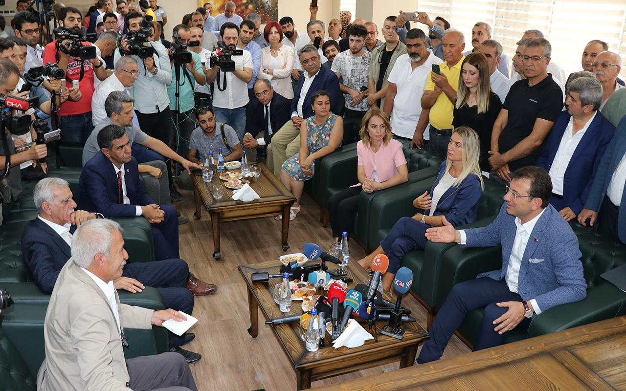 İmamoğlu görevden alınan HDP'li başkanlarla buluştu