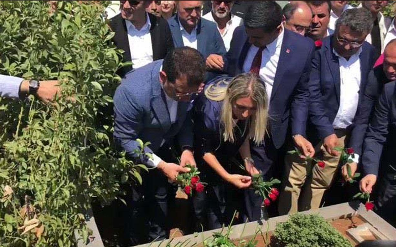 Ekrem İmamoğlu'ndan Tahir Elçi'nin mezarına ziyaret!